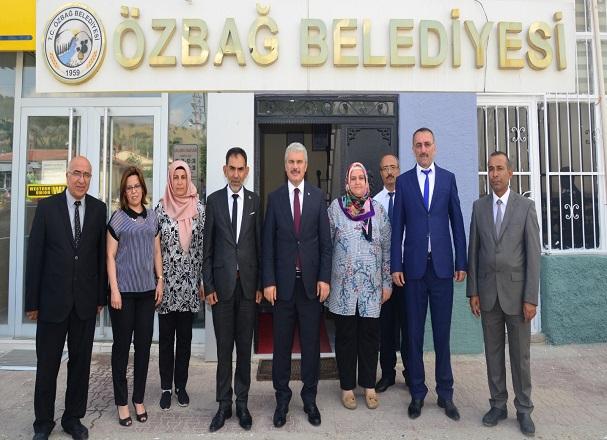 Vali İbrahim Akın Belediye Başkanımız Rasim Arazay'ı Ziyaret Etti